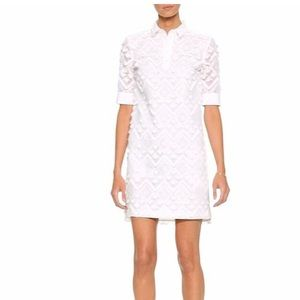 Banana Republic embroidered fringe polo dress